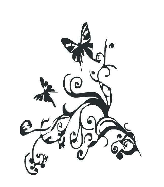 Pin Ensemble De Papillons Noir Et Blancs Clip Art Libres