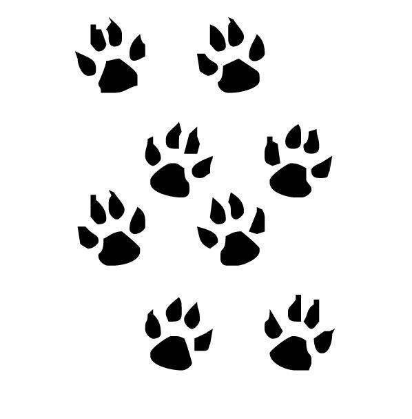 Trace pattes de chat coloriage image de patte de chat - Trace de patte de chat ...