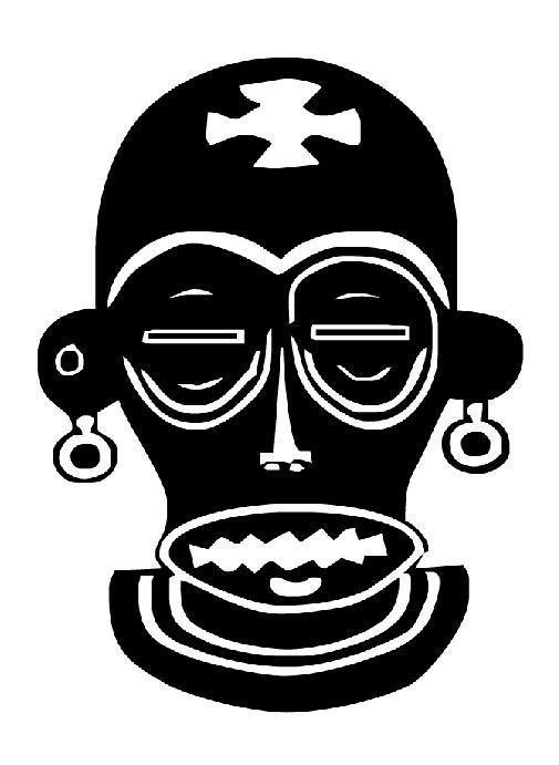 Masque africain 2 - Dessin de masque africain ...